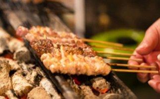 広島熟成鶏 広島県産もも串 50本(生冷凍)業務用